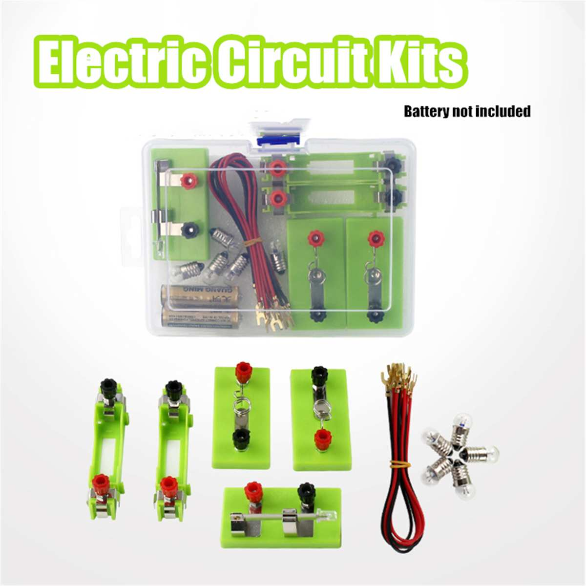 Kids Children Electric Circuit Educational Toys Kit School Science Toys Discovery Intelligence Devel