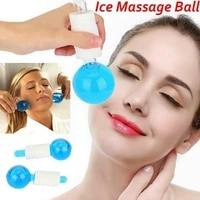 korean beauty massage roller ice hockey globes eye crystal ball massager glass energy scraping p4a1