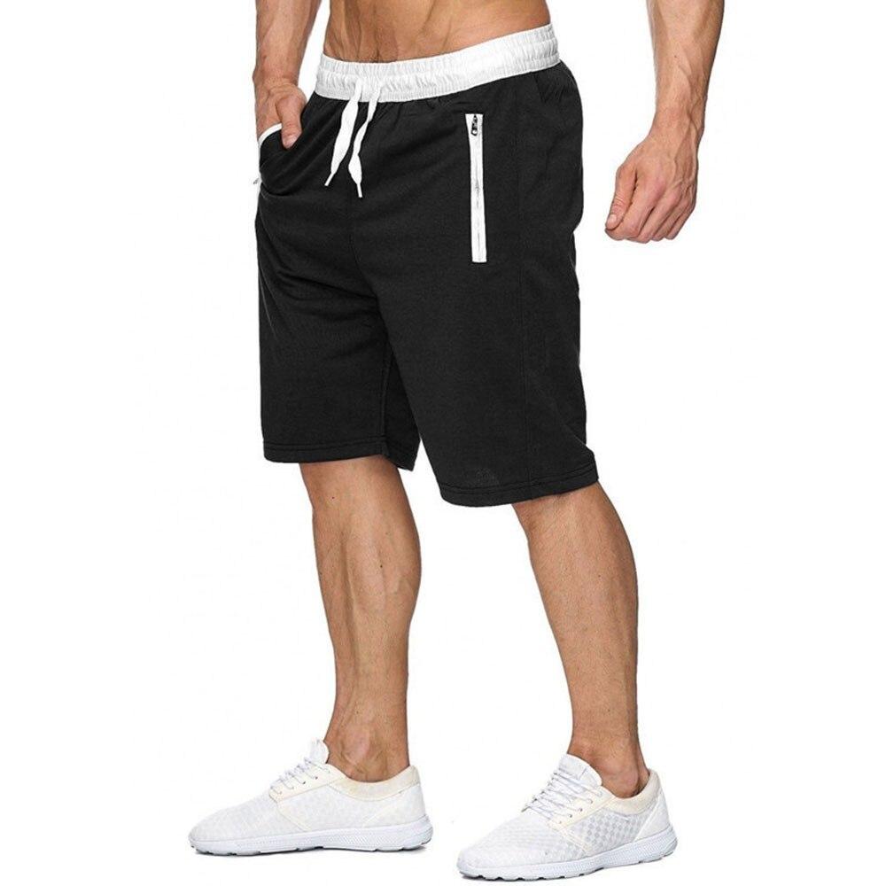 Мужские повседневные 5-точечные спортивные брюки, мужские спортивные шорты-бермуды для бега, фитнеса, спортивные шорты, мужские шорты для се...