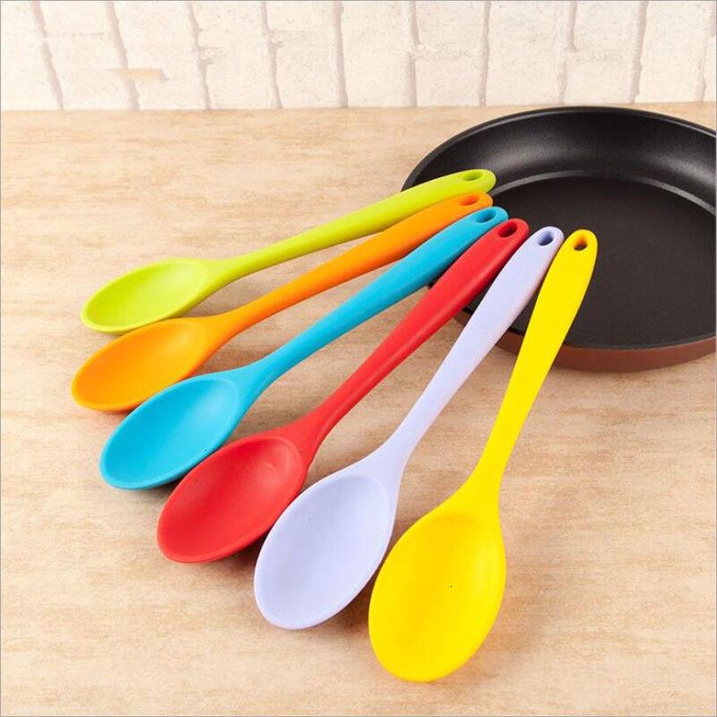 Große Größe Universal Food Grade Silikon Scoop Flexible Wärme Beständig Suppe Löffel Kochgeschirr Schaufeln Küche Kochen Tools Gadget