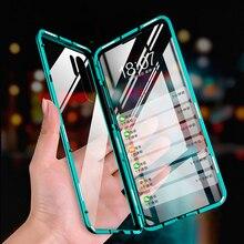 Funda magnética de vidrio metálico para Huawei Honor 20 10 8X 9X Pro P30 P20 Mate 10 20 30 Lite Pro Y9 Prime 2019 funda de doble cara