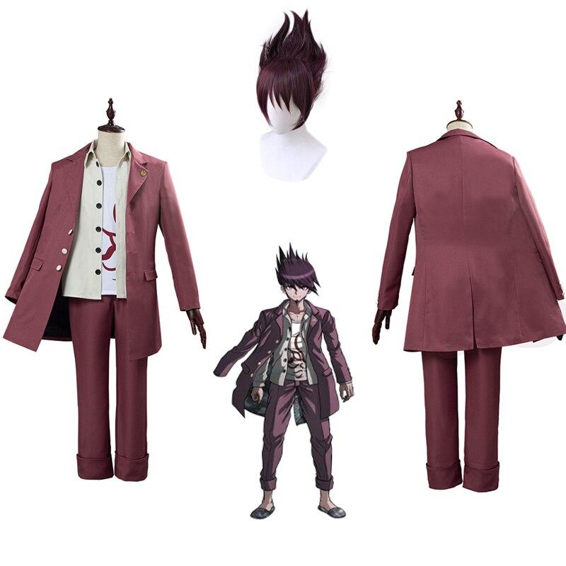 Anime Danganronpa V3 Momota Kaito Cosplay Costume Momota Kaito COS japonais jeu école uniforme Costume Costume chapeau et perruque
