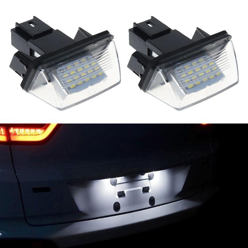 1 par de 18 LED luces para placa de matrícula lámpara para Peugeot 206, 207, 307, 308, 406 Citroen C3/C4/C5/C6 YHQ