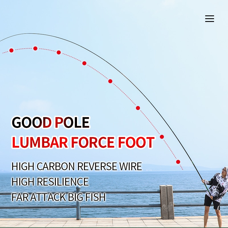 Taigek quality carbon fiber retractable super light super hard travel fishing rod enlarge