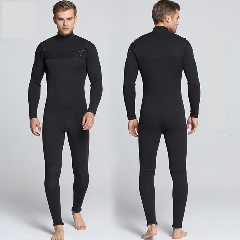 Front Zipper Scuba Diving Wetsuit Men New 3mm Neoprene Swimming Diving Suit Surf Triathlon Spearfishing Wet Suit Full Bodysuit