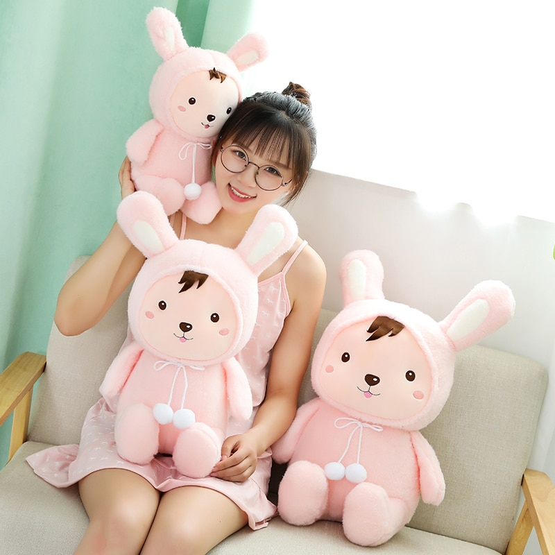 Huggable New Soft Kawaii Rabbit&Pig Plush Toy Cartoon Animal Cattle&Mouse Stuffed Doll Home Decoration Baby Birthday Best Gift  - buy with discount
