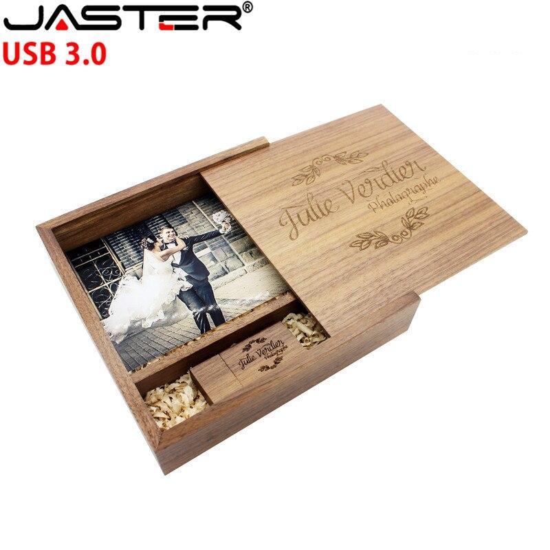 JASTERUSB 3.0 (over 1 PCS free LOGO) wooden guitar+box usb flash disk pendrive 4gb 16gb 32gb 64GB Photography customized gift