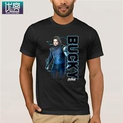 Marvel avengers infinity guerra bucky tecnologia gráfico t camisa 2019 verão dos homens de manga curta camiseta engraçado camisetas de algodão