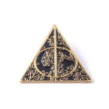 ZXMJ Harry série reliques de mort broche magique potiers broche métal Vintage Triangle épinglettes badge bijoux vêtements accessoire