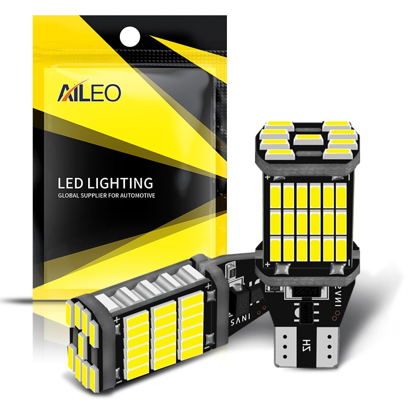 AILEO 2PCS T15 W16W 921 912 T16 902 LED Bulbs High Power 45pcs 4014SMD Super Bright 1200LM Replace F