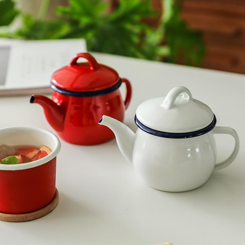 Japão espessura esmalte bule vestido oiler tanque de armazenamento do agregado familiar molho de soja garrafa aromatizando pote de café