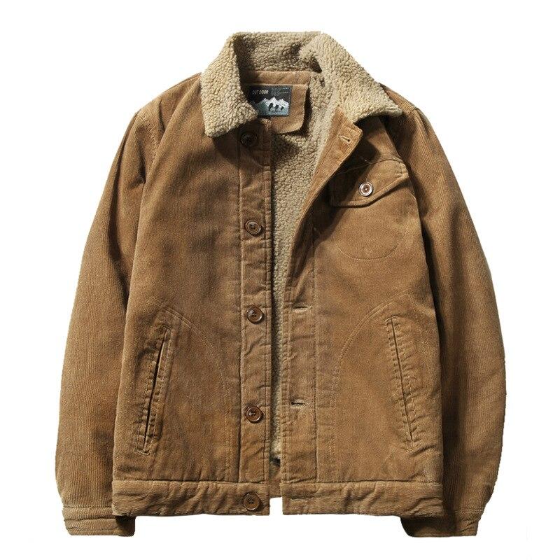 Мужская зимняя короткая Вельветовая Повседневная теплая куртка, одежда для размера плюс, модная мужская куртка