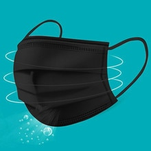 Disposable Maske Faceshields Adults Dustproofmulti-use Facemask 3ply Protective Dust Face Cover Black Maske For Women Men