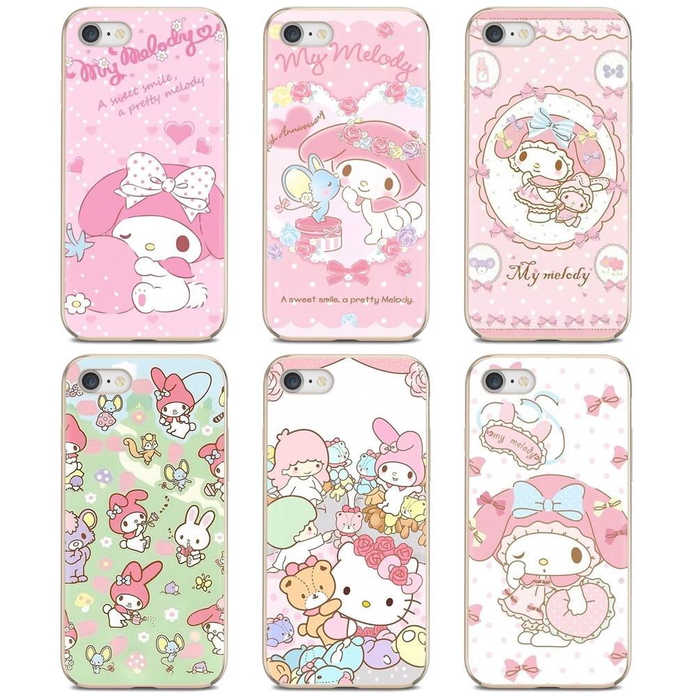 Popular de silicona funda de teléfono para Xiaomi Mi A1 A2 A3 5X 6X 8 9 9t Lite SE Pro Mi Max Mix 1 2 3 2S Rosa My Melody con estrellas de
