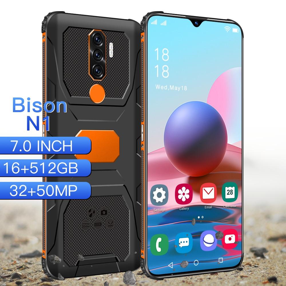 Smartphone Rugged Cell Phone Global Version N1 Shockproof Qualcomm 888 Waterproof Deca Core 16G 512GB Dual SIM 6800mAh Androi11