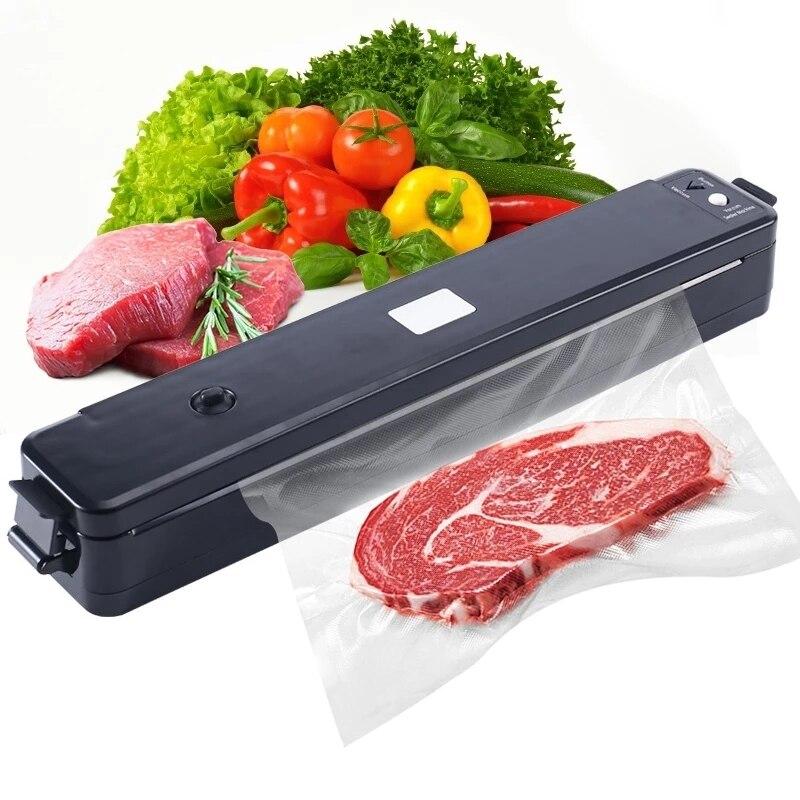 التلقائي الغذاء فراغ السدادة تخزين ماكينة تعبئة وغلق المطبخ فراغ الحاويات باكر مع 10 قطعة حقائب حفظ الأطعمة