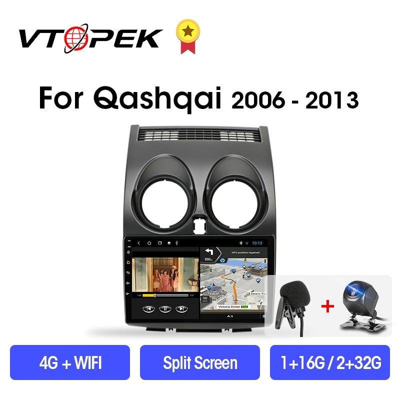 VTOPEK Android 9.0 T3L PLUS For Nissan Qashqai 1 J10 2006-2013 Car Radio Multimidia Video Player Navigation GPS 2din 2 Din DSP