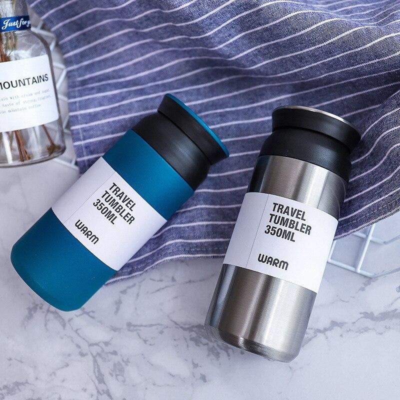 فنجان القهوة ترمس من الفولاذ المقاوم للصدأ الإبداعية الراقية المحمولة فنجان القهوة في الهواء الطلق الذكور والإناث studentsll-1008