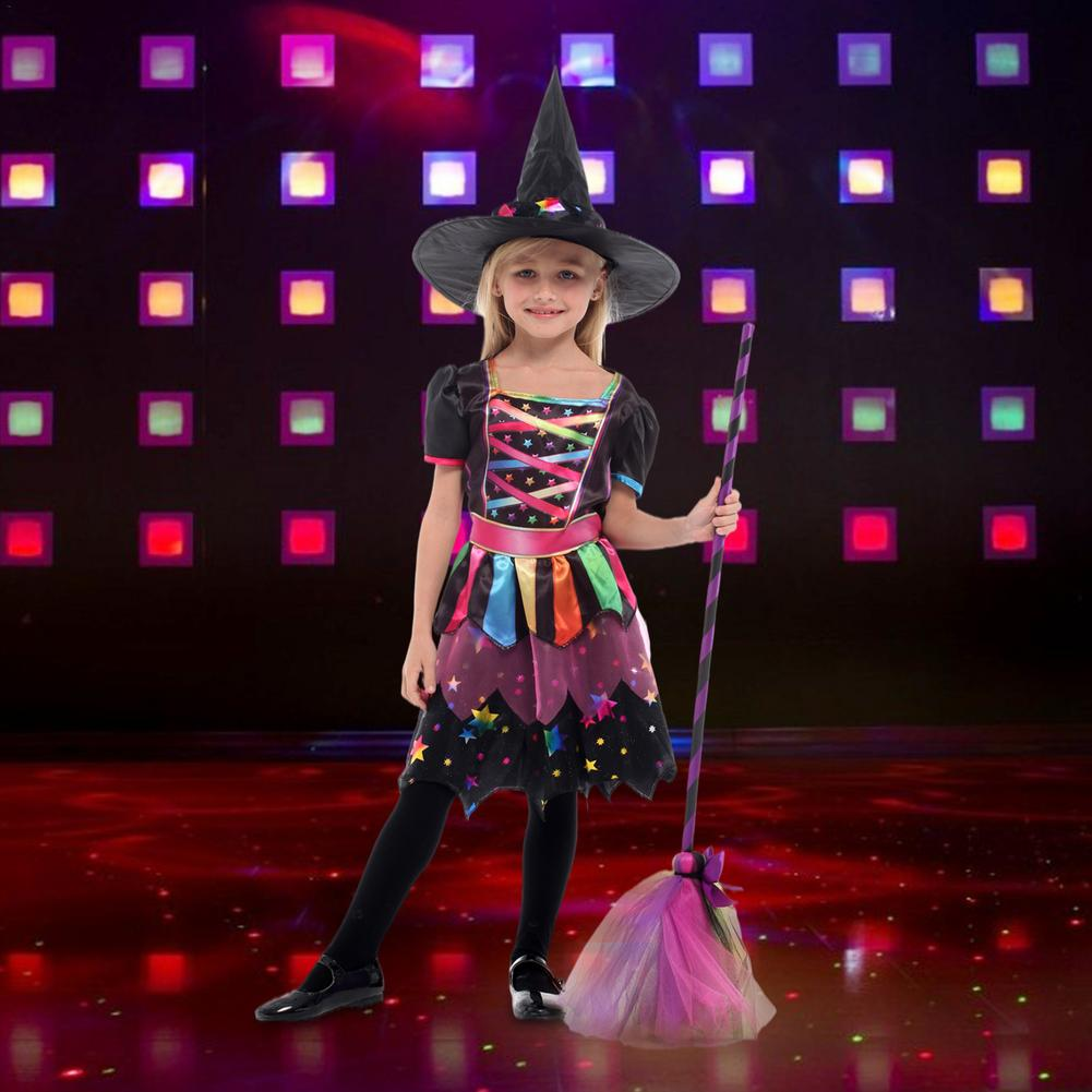 halloween children s costume cosplay girl horror vampire death ghost clothes little witch long sleeve costume girls prom dress Toddler Girl Witch Cosplay Costume Kids Short Sleeve Dress Costume Carnival Cosplay Party For Children Cosplay Dress Outfit Set