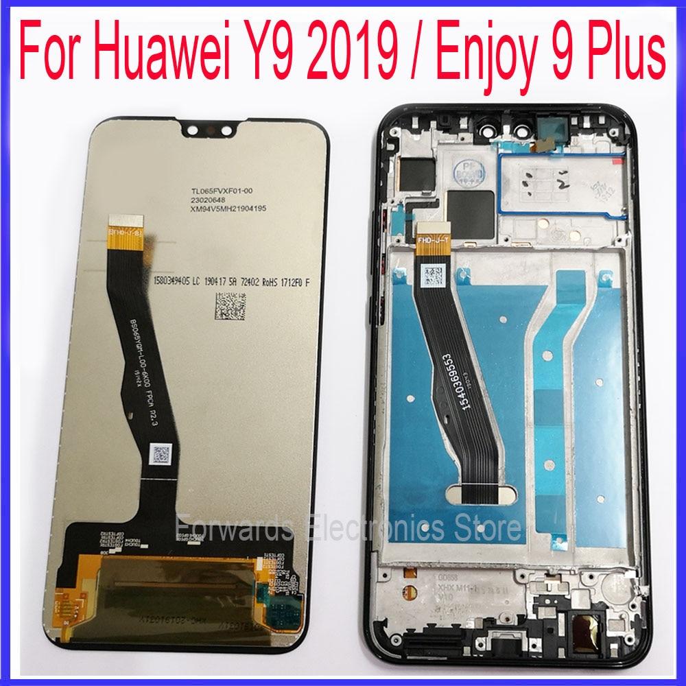 Para Huawei Y9 2019 pantalla LCD Enjoy 9 Plus con touch con montaje de Marco