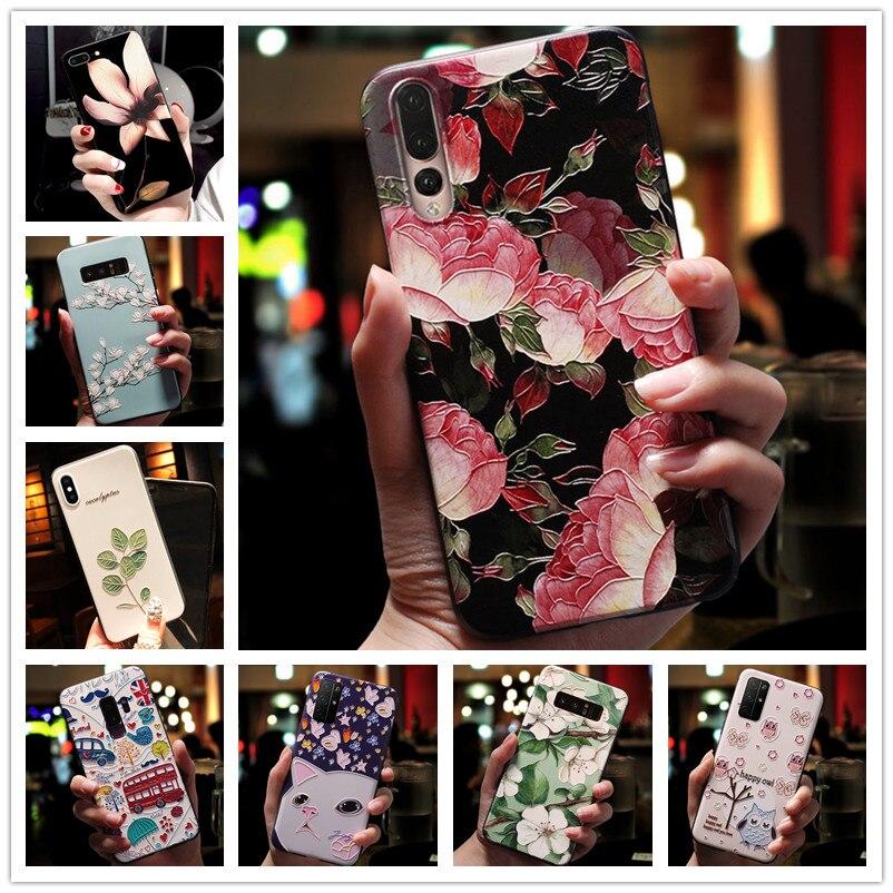 Силиконовый чехол thinq для LG V60, 3D тиснение цветов, чехлы для телефонов LG G8X, чехол thinq Relief для LG G7, Thinq, G7 Plus, K40S, K50S, G, 7
