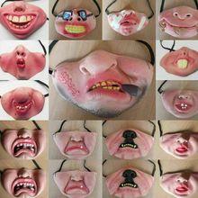 7 Style adulte effrayant Clown Latex masque joie Cosplay accessoires humoristique bande élastique demi visage fête Halloween Latex masques drôle