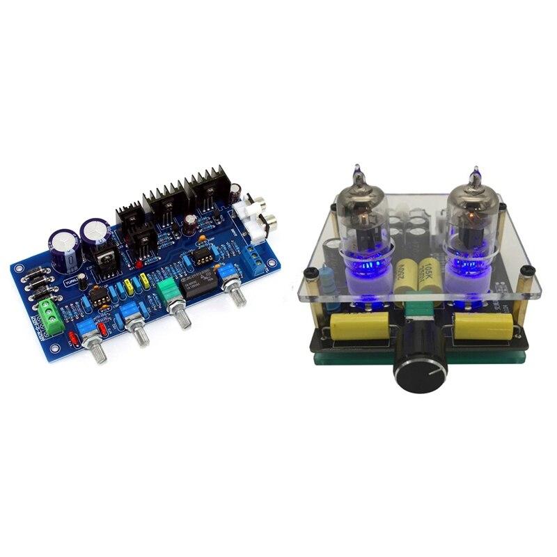 لوح مكبر للصوت 6J3 مع لوحة مكبر للصوت Preamp مع 2.0 Preamp ستيريو HIFI NE5532 Tone لوحة مكبر للصوت المسبق