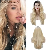 blonde lace front wig synthetic body wave lace front wig long ombre wigs for women heat resistant cosplay wigs 13%c3%973 scheherezade