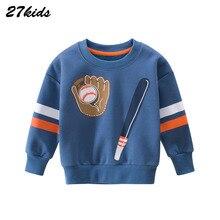 Baby Jungen Mädchen baseball-Muster Baumwolle Straße stil Sweatershirt Für Kinder Kinder Sport Kausal Hoodies Oberbekleidung Kleidung