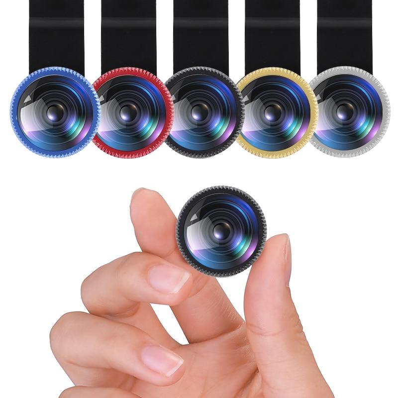 3-in-1 Wide Angle Macro 180° Fisheye Lens Camera Kits Mobile Phone Fish Eye Lenses With Clip Storag