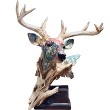 [MGT]Nordic ornament dekoration harz simulation deer kopf statue hause büro kreative dekoration handwerk