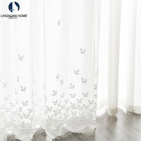 modern leaves sheer curtain for living room embroidered tulle window treatments the bedroom voile curtain for kitchen decoration