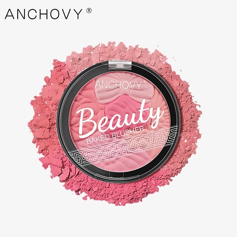 flower face Nude Matte baked blush shimmer Glow bronzer Mineral fine powder blusher palette waterproof long-lasting makeup
