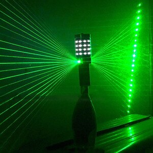 LED Bar Flash Stick LED Strobe Baton With Green Red Laser Projector Light Wine Champagne Service Sparkler for Wedding Nightclub