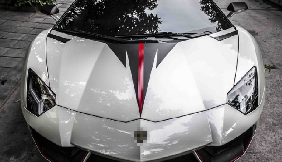 Etiqueta engomada modificada con capucha para Lamborghini Aventador tira de color Huracan Urus