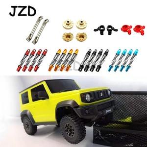 1/16 RC Car Parts Metal Steering Cup Shock Absorber Brass Wheel Hub Combiner CVD Front Rear Drive Shaft For XIAOMI Suzuki Jimny