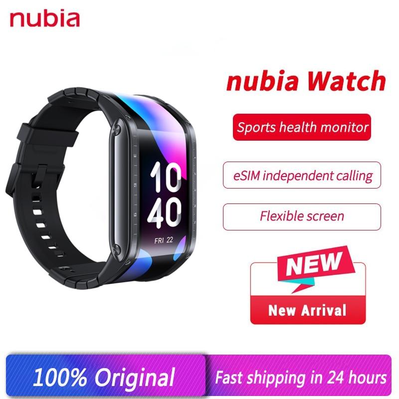 New Original Global Version Nubia Smart Watch 4.01inch foldable flexible 1GB 8GB ZTE Nubia Multifunctional Watch Phone
