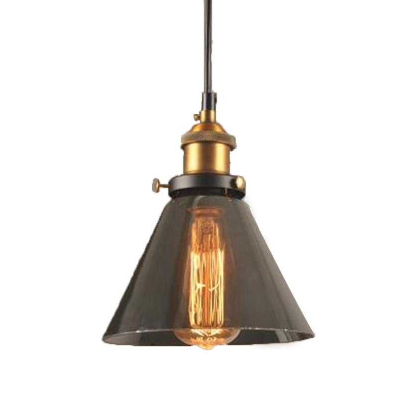triangulo geometrico do vintage abajur de vidro pendurado luz nodic campo e27 pingente