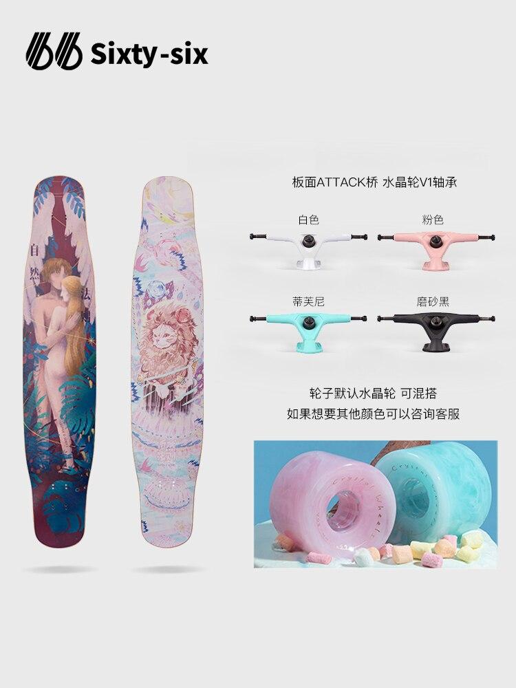 Professional Maple Skateboard Complete Long Board Dancing Skateboard Cruiser Deck Drift Gyroroue Skate Board Accessories BI50SB