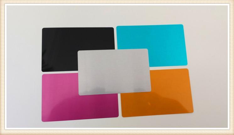 100pcs Metal Business Cards Aluminum Alloy Blanks Card for Customer Laser Engraving Diy Gift Cards Customizable Logo