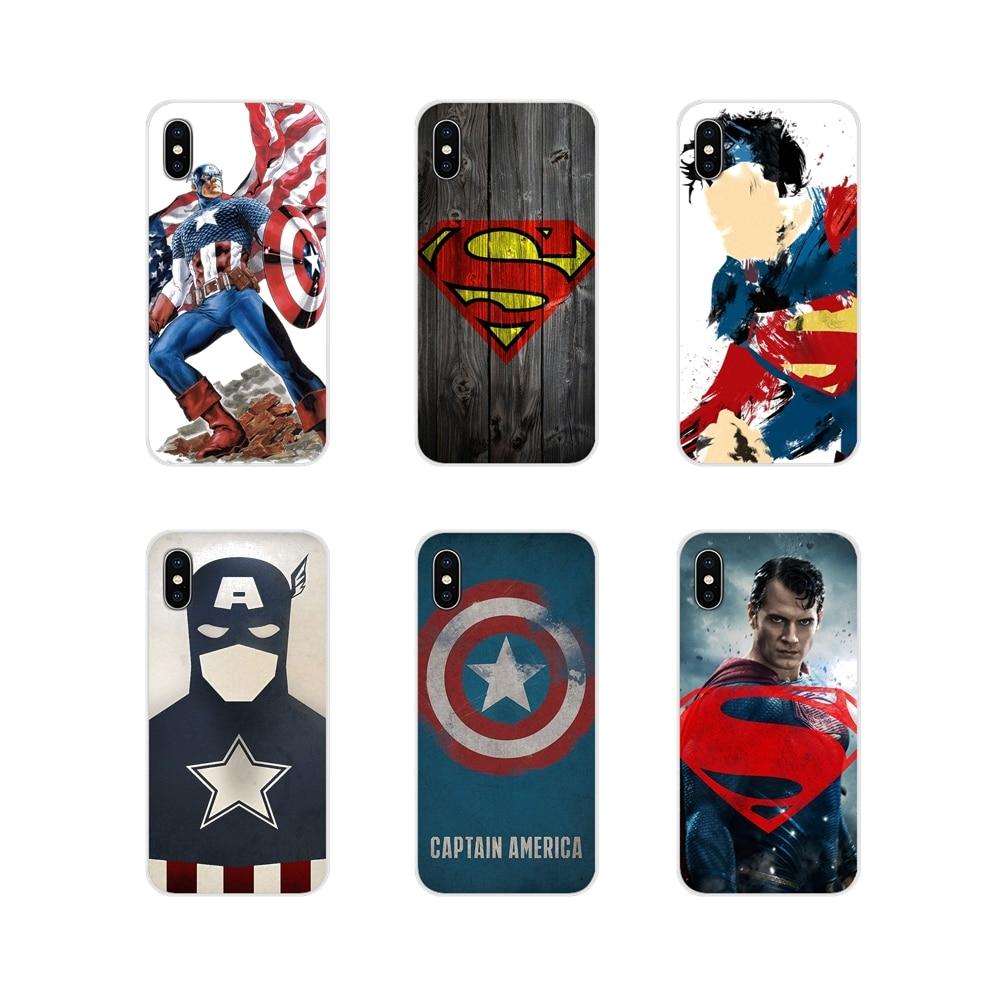 Superhero Captain America Superman Accessories Phone Bag Case For Xiaomi Mi4 Mi5 Mi5S Mi6 Mi A1 A2 A3 5X 6X 8 CC 9 T Lite SE Pro