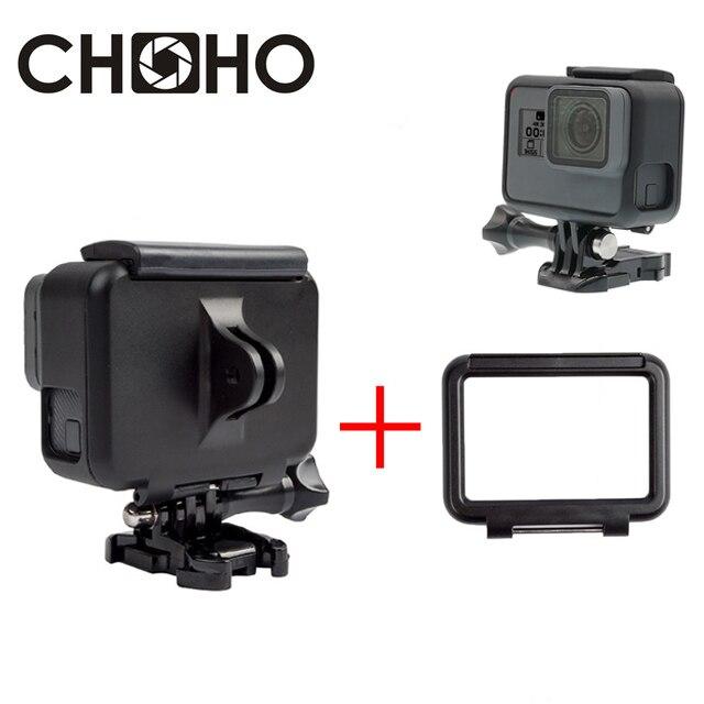 Защитный чехол-рамка, защитный корпус + задняя дверь + Базовое крепление для GoPro Hero 5 6 7, черный, новый комплект аксессуаров для Go Pro