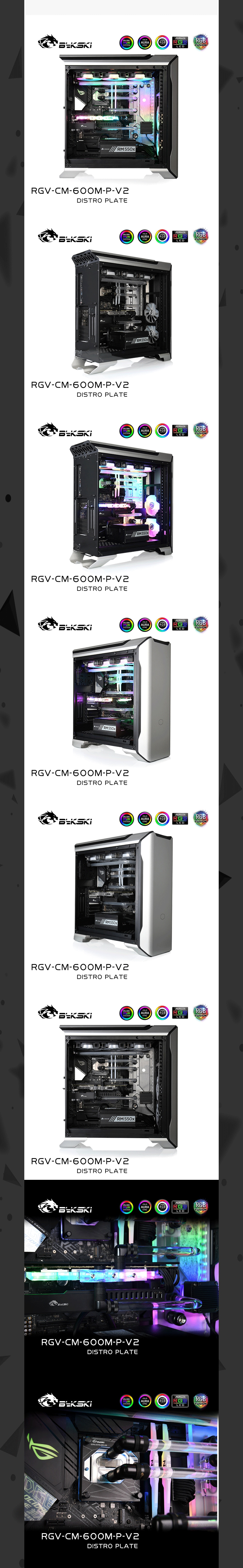Bykski Waterway Cooling Kit For CoolerMaster SL600M Case, 5V ARGB, For Single GPU Building, RGV-CM-600M-P-V2