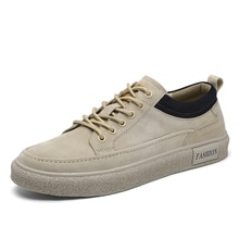 Men's Casual Shoes Classic Winter Outdoor Warm Comfortbale Leather Shoes Wear Resistant Antiskid Sne