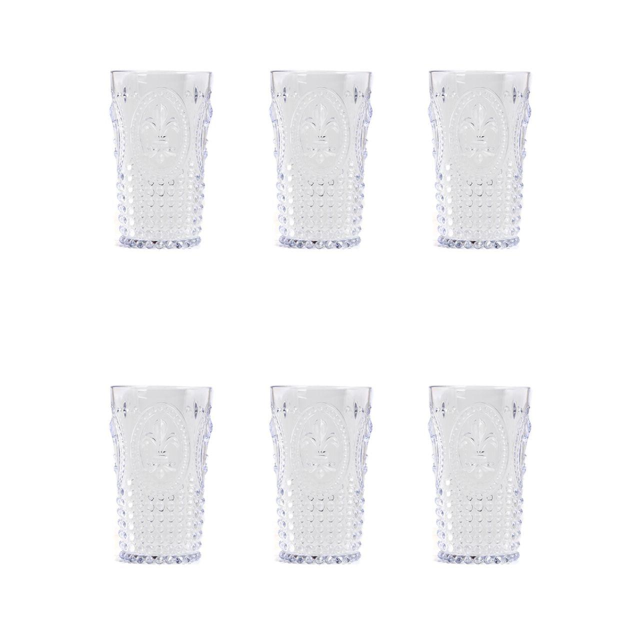 Copo + 3 Acrílico Transparente Copo Longo 3 Presente Ews