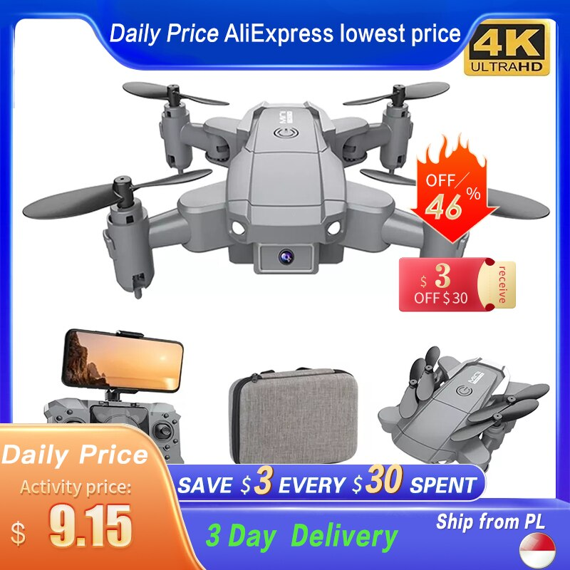 KY905 Mini Drone With 4K Camera HD Foldable Drones Quadcopter One-Key Return FPV Follow Me RC Helicopter Quadrocopter Kid's Toys foldable mini drones drone rc fpv quadcopter 4k hd camera wifi fpv drone rc helicopter toys