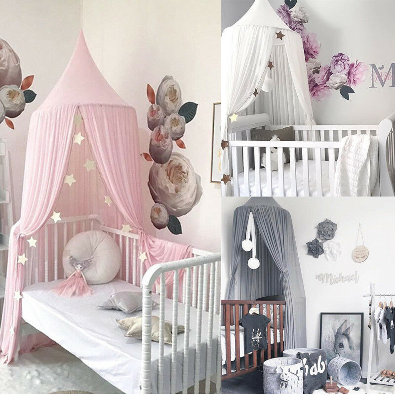 1Pcs Kids Baby Bed Canopy Bedcover Mosquito Net Curtain Bedding Dome Tent Room Decor Crib Netting