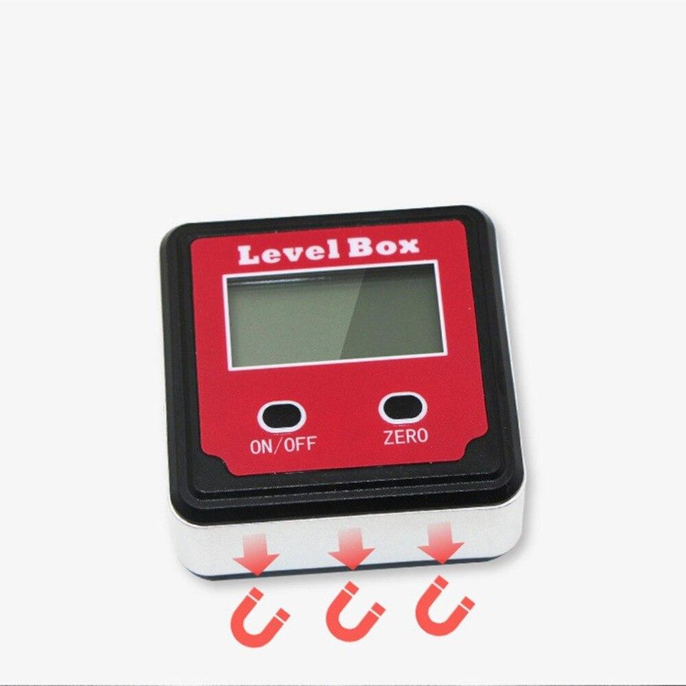 Vermelho portátil 2 chave de precisão eletrônico digital inclinômetro inclinação medidor nível caixa ângulo transferidor
