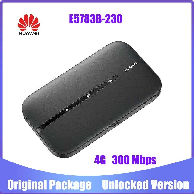 هواوي e5783 E5783B-230 واي فاي واي فاي هوت سبوت سوبر فاست 4G 300Mbps راوتر لاسلكي أسود pk e5786