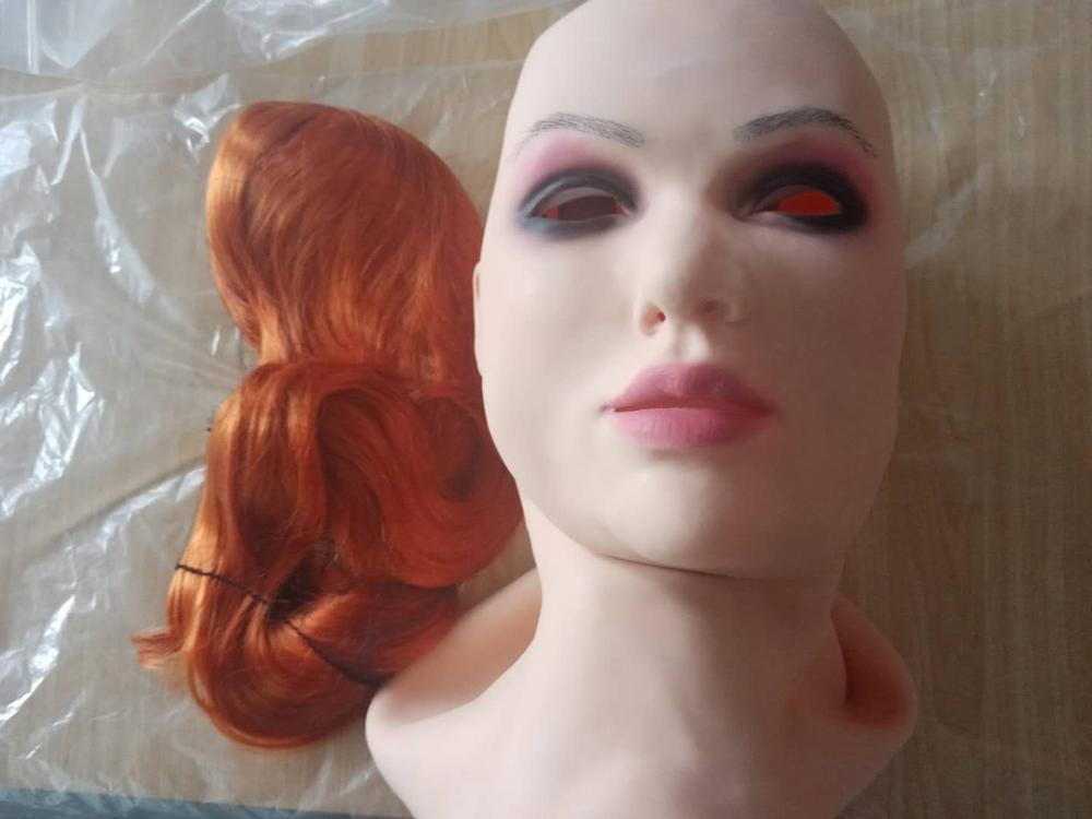 Vanessa Head Mask For Crossdresser Drag Queen Transgender Realistic Soft Silicone Female Mask for Masquerade Halloween Mask 6G